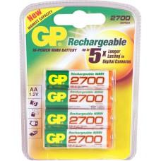 BATTERY OPLAADBAAR GP 2700 MAHAA BLISTER A.4 STUKS.
