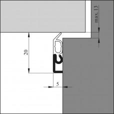 ELLEN OPBOUWPROFIEL ELRO XL ALUMINIUM 3000MM MAX. KIER 13MM