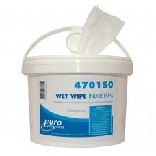 EURO WET WIPES 27.5X28CM 150 STUKS IN EMMER