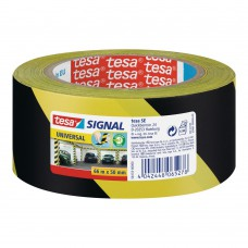 TESA MARKERINGSTAPE 60760 ZACHT PVC ZWART-GEEL DIKTE 0.15MM50MM ROL 33MTR