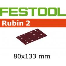 FESTOOL SCHUURSTROOK RUBIN 2 STF-80X133-P180-RU2/10  KORREL 180 PAK A 10 STUKS