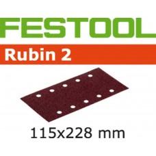 FESTOOL SCHUURSTROOK RUBIN 2 STF 115X228/10 P180 RU2/50 KORREL 180 PAK A 50 STUKS