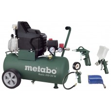 METABO COMPRESSOR BASIC 250-24W + LP4 TOEBEHORENSET