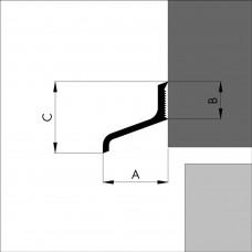 ELLEN LEKDORPEL ALD A125 25X12X24MM ALUMINIUM PER MTR