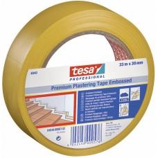 TESA BEPLEISTERINGSTAPE 4840 PREMIUM GERIBD ZACHT PVC WIT 0.15MM 33MM ROL 50MTR