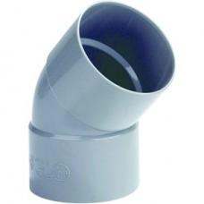BOCHT 2X MOF PVC 45 GRADEN 40MM