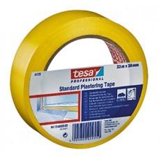 TESA BEKISTINGSSTAPE 4172 STANDAARD ZACHT PVC GEEL DIKTE 0.12MM 33MM ROL 50MTR NML