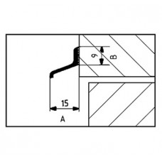 LEKDORPELPROFIEL ALUM ALD-A125 P.MTR