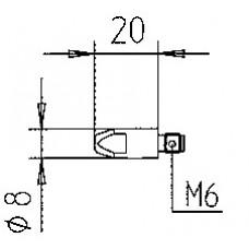 MIG DRAADMONDSTUK M6-1,2MM 8MM VV