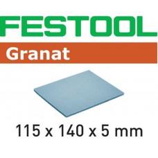 FESTOOL SCHUURPADS GRANAT 115X140X5 EF500 GR/20 KORREL 500 PAK A 20 STUKS GV