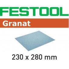 FESTOOL SCHUURPAPIER GRANAT 230X280 P100 GR/10 KORREL 100 PAK A 10 STUKS