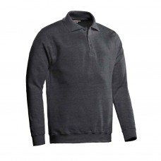 SANTINO POLOSWEATER ROBIN DONKERGRIJS MAAT M