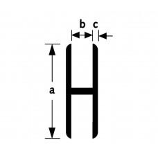 H-PROFIEL 1 MT ALU VV